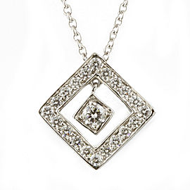 TIFFANY&Co. Platinum Diamond Swing square Necklace