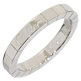 Cartier 18K White Gold Lanier Ring Size 6.25