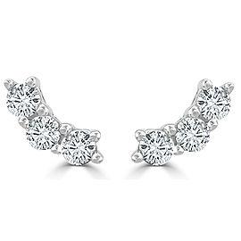 14K White Gold 0.30ctw Diamond Earrings