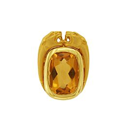 Carrera y Carrera Panther 18K Yellow Gold with Citrine Pendant