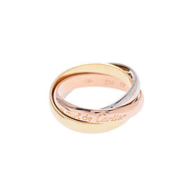 Cartier 18K Yellow, White and Rose Gold Trinity Ring Size 6