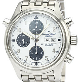 Polished IWC Stainless steel Pilot Doppel Chronograph Watch HK-2116