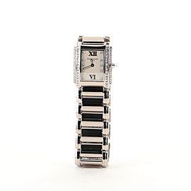 Patek Philippe Twenty-4 Quartz Watch White Gold with Diamond Dial and Bezel 25
