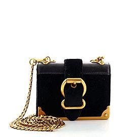 Prada Cahier Chain Crossbody Bag Velvet and City Calf Micro