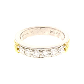 Scott Kay Platinum and 18K Yellow Gold 0.75 Ct Diamond Wedding Anniversary Engagement Ring Size 6.5