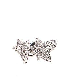 Boucheron Nature Triomphante Lierre de Paris Stud Earrings 18K White Gold and Diamonds