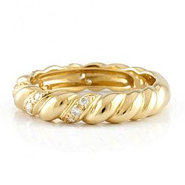 MIKIMOTO 18K Yellow Gold Diamond Ring