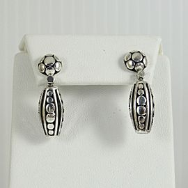 John Hardy Sterling Silver Dot Deco Bombay Drop Earrings