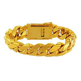 14K Yellow Gold Cuban Link Bracelet