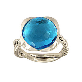 David Yurman Continuance Ring With Blue Topaz, 14mm