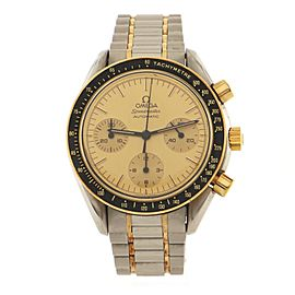 Omega Speedmaster Reduced Chronograph Automatic Watch Stainless Steel and Yellow Gold 39