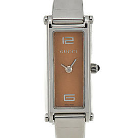 GUCCI 1500L Brown gold Dial Quartz Ladies Watch