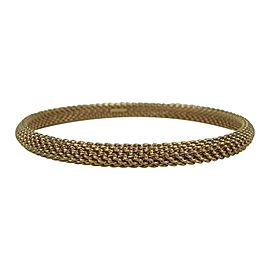 Tiffany & Co. 18k Rose Gold Mesh Bangle Bracelet 7.75""