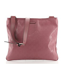 Gucci Zip Top Messenger Bag GG Imprime Medium
