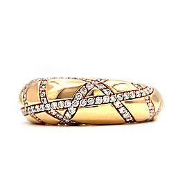 Chaumet 18K Yellow Gold with 1.30ct Diamonds Ring Size 6.5