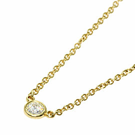TIFFANY & Co. 18K Yellow Gold ByTheYard 1P Diamond Necklace