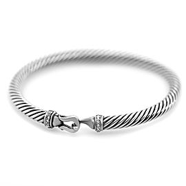 David Yurman Cable Buckle Bracelet with Diamonds 5mm