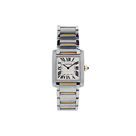 Cartier Tank Francaise Stainless Steel And Yellow Gold 25mm Womens Watch