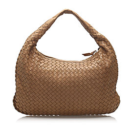 Intrecciato Leather Hobo Bag