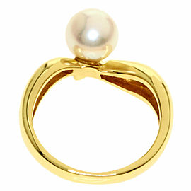 MIKIMOTO 18k Yellow Gold Pearl Akoya Ring
