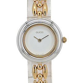 GUCCI Change bezel 11/12.2 White Dial Quartz Ladies Watch #HK-328