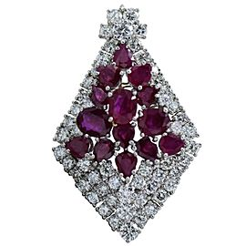 15 Oval Ruby Diamond Pendant 5-6 Carat