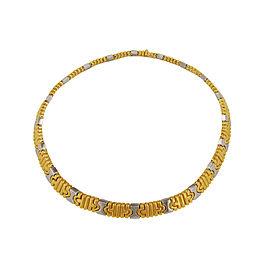 Bulgari Parentesi Two Tone Collar Necklace