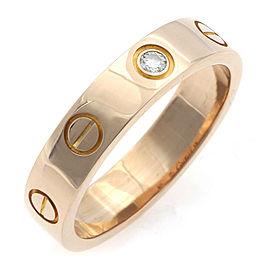 CARTIER 18K Pink Gold Mini Love Diamond Ring