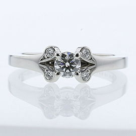 CARTIER Platinum/diamond Ballerina Solitaire Ring