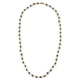 Chanel 18K Yellow Gold Onyx Cultured Pearl Necklace