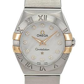 OMEGA Constellation 1232.02 12P diamond White shell Quartz Ladies Watch