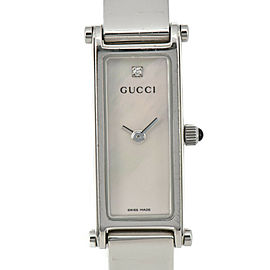 GUCCI 1500L 1P Diamond White shell Dial Quartz Ladies Watch