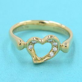 TIFFANY & CO 18k Yellow gold Open Heart Dialing RING