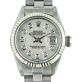 Rolex Datejust 6917 Stainless Steel with White Mother of Pearl Dial VIntage 26mm Womens Watch