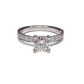 Tacori 18K White Gold with Diamond Engagement Ring Size 6.25