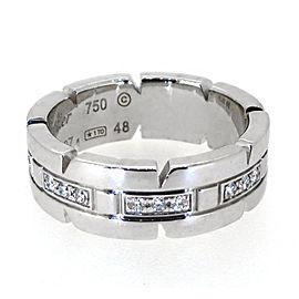 Cartier White Tank Francaise 18k Gold Diamond Band Ring
