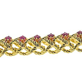 Cartier 1960s Ruby Gold Bracelet
