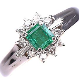 Emerald Platinum/Diamond Ring NST-391