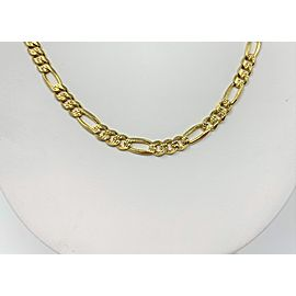 14K Yellow Gold Figaro Necklace