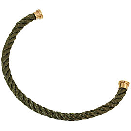 FRED Force 10 Khaki Bracelet Cord Size 14 in Stainless Steel