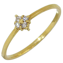 AHKAH 0.05ct Diamonds Design Ring in 18K Yellow Gold US6.75