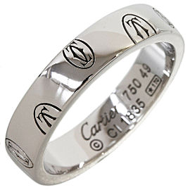 Cartier Happy Birthday Wedding Band Ring in 18K White Gold US5