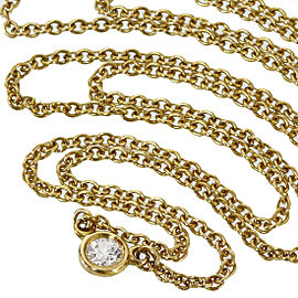 Tiffany&Co 18K Yellow Gold Elsa Peretti Diamond by the Yard Necklace