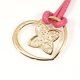 Louis Vuitton 18K Rose Gold PandanTiff Cool Heart Necklace Pendant CHAT-225