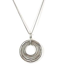 David Yurman Sterling Silver Diamond Stax Pendant Necklace