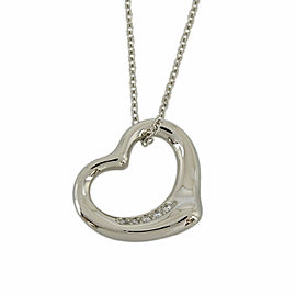TIFFANY&Co. 950 platinum Diamond Cleaned NecklaceCHAT-962