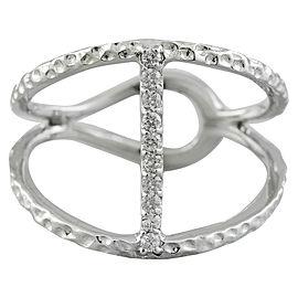 0.10 Carat 14K White Gold Diamond Ring