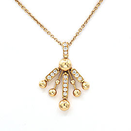 Bulgari 18K Yellow Gold with 2.25ct Diamond Vintage Necklace