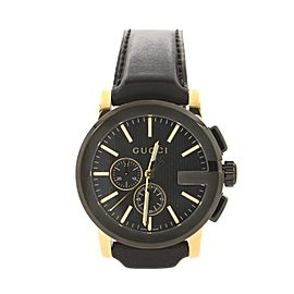 Gucci G-Chrono Chronograph Quartz Watch PVD Stainless Steel and Leather 44