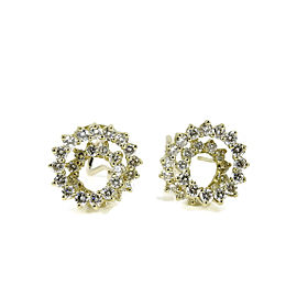 Armand Jacoby 14K Yellow Gold 3.90tcw Diamond Spiral Earrings